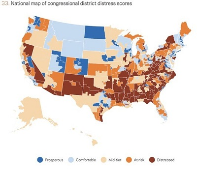 Map of US distress scores