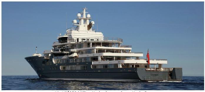 His US$250 Million Yacht, Source: Super Yacht Fan