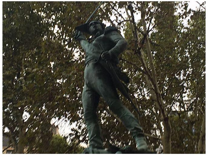 The statue of Michel Ney in Paris