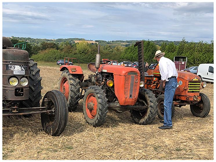 Bill examines the old French tractors