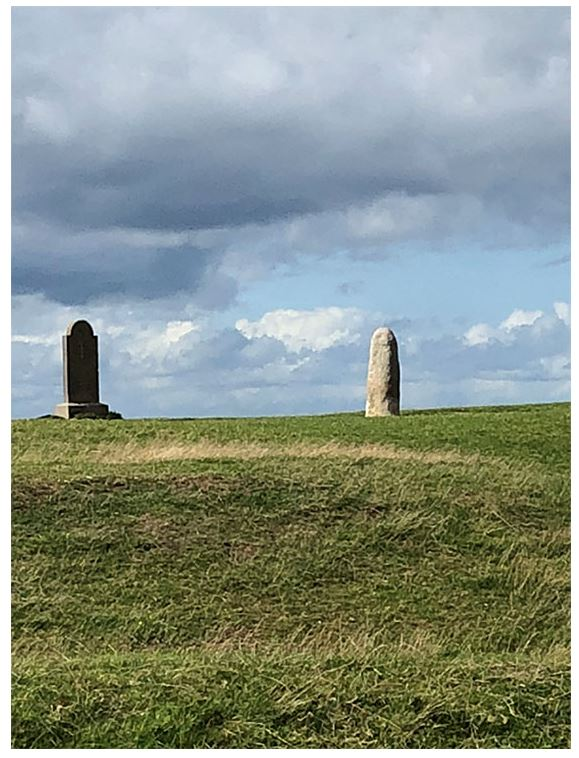 Monuments on the Hill of Tara. One is presumed to be a phallic symbol.'A phallic symbol of what?' asked a visitor...