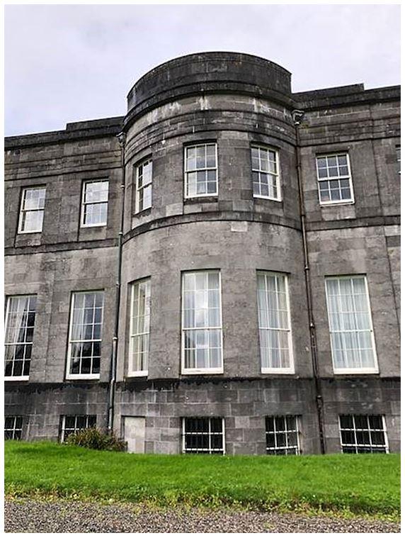 The façade of Lissadell House in County Sligo, Ireland