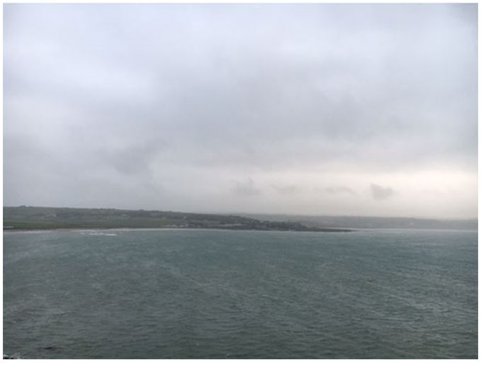 Stormy weather on the Irish coast