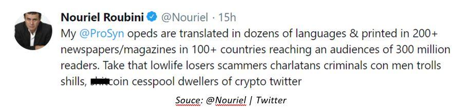 @Nouriel | Twitter