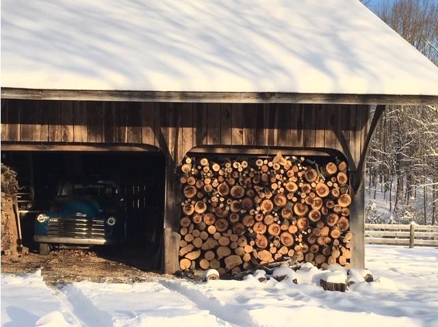 Fire Wood On Our Snowy farm