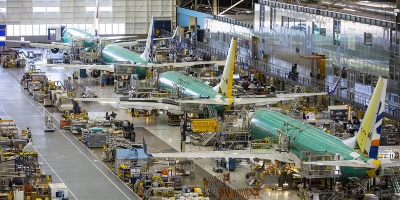Boeing'''s factory in Renton, Washington, where 737s are made. Source: Seattle Times.