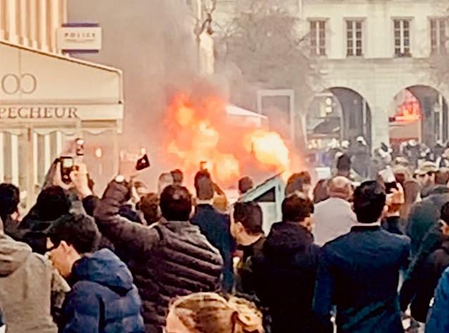 Firebombs in Paris